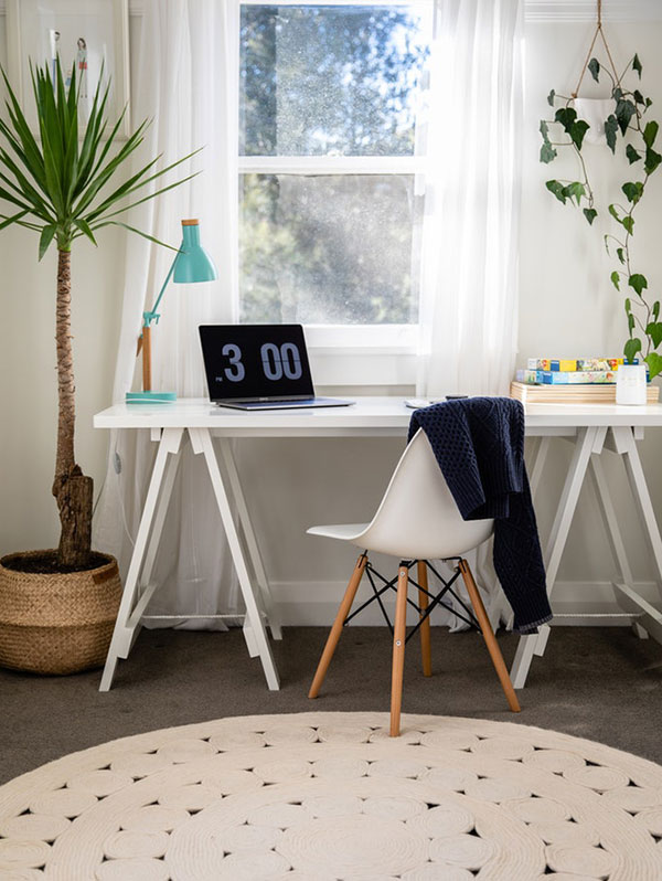 Small area rug in office space